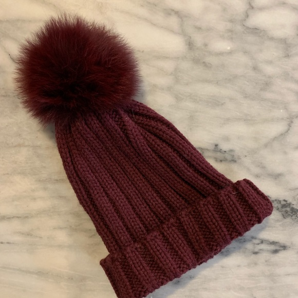 9d3982ea gorski Accessories | Genuine Fur Wool Blend Pom Pom Hat | Poshmark